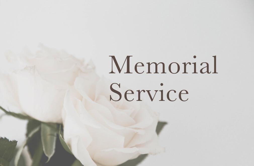 Memorial Service for Edna-May Slade